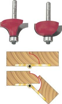 Amazon - Freud 33-106 Drop Leaf Table 1/2-Inch Raduis Router Bit Set with 1/4-Inch Shank