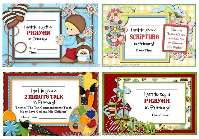 LDS Freebies 4 primary: Church Ideas, Church Primary, Church Stuff, Primary Printable, Lds Primary, Freebies Printable, Lds Freebies, Primary Ideas, Assignments Cards