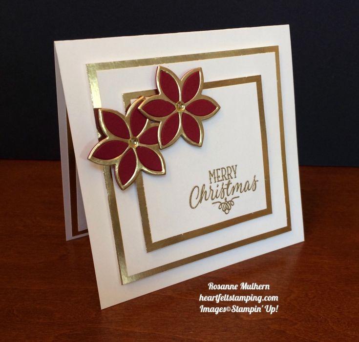 Stampin Up Quilt Builder Christmas Cards - Rosanne Mulhern