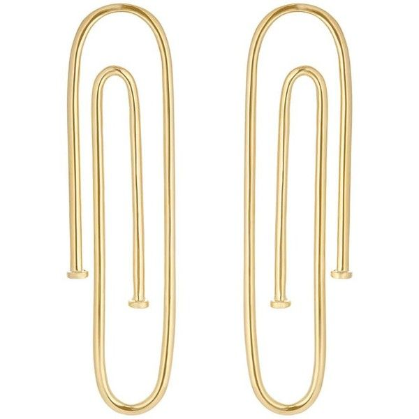 Jennifer Fisher Women's Long Pipe Earrings ($445) ❤ liked on Polyvore featuring jewelry, earrings, gold, 14 karat gold jewelry, jennifer fisher jewelry, 14k earrings, polish jewelry and 14 karat gold earrings