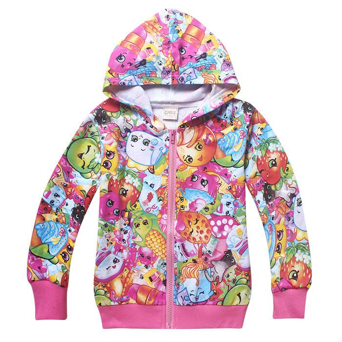 kids girls SHOPKINS clothing top coat hoodie jacket tracksuit outfit size 6 8 10
