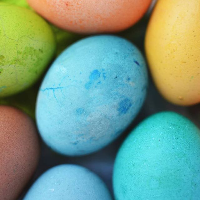 Pastel Easter eggs are so pretty what things remind you of spring?