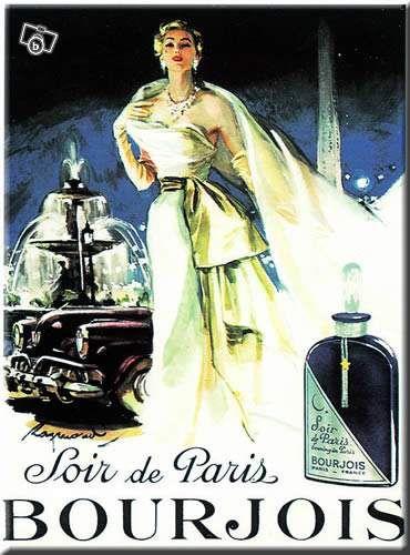 Soir de Paris, Bourjois Carte Métal 15x21 cm #chrisdeparis 14€
