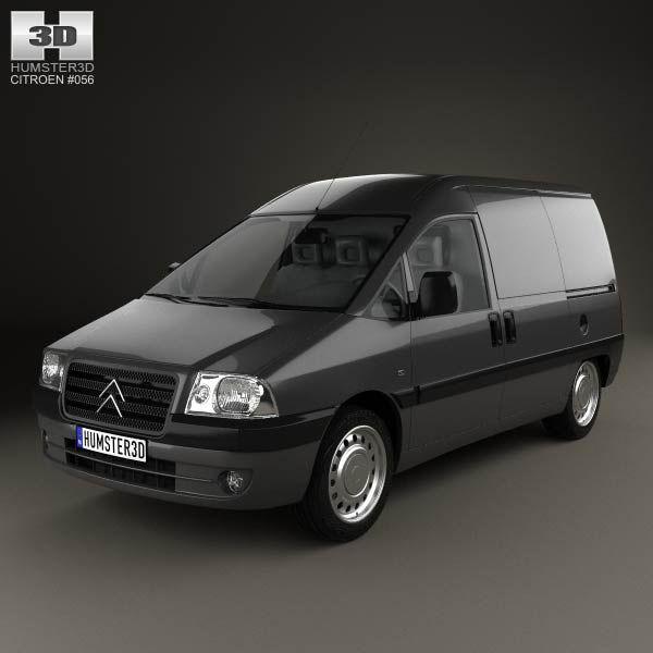 Citroen Jumpy Van 2004 3d model from humster3d.com. Price: $75