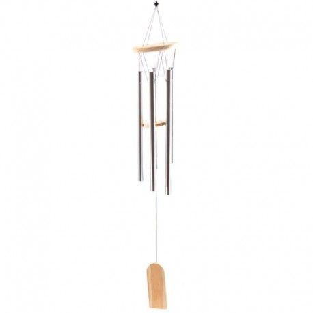 Carillon à vent avec tubes de métal 88cm
