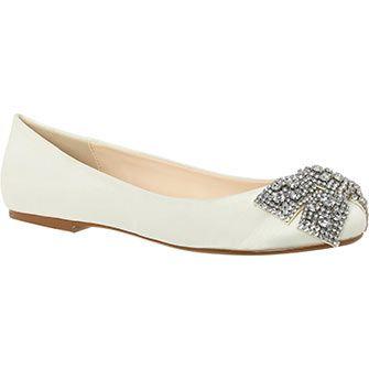 Betsey Johnson White Embellished Ballerina Flats Women S Flat Shoeswedding Guest