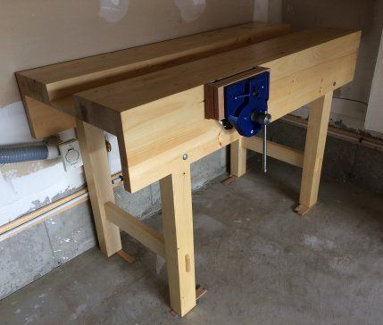 Image result for woodworking vice on workbench corner