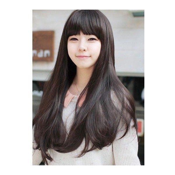 Sweet Romantic Asian Hairstyles for Young Women ❤ liked on Polyvore featuring hair