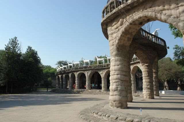 Rock Gardens in Chandigarh.