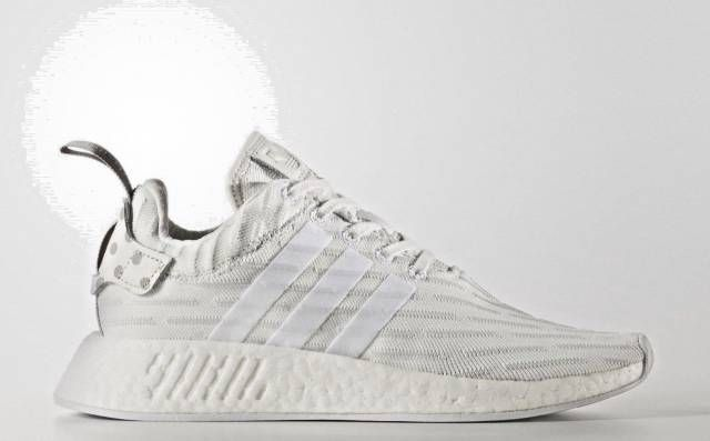 Adidas NMD R2 Primeknit 'Triple White' Granite BY2245