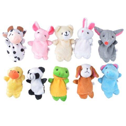Various Animals Finger Puppets Plush Toy (10 pcs)
