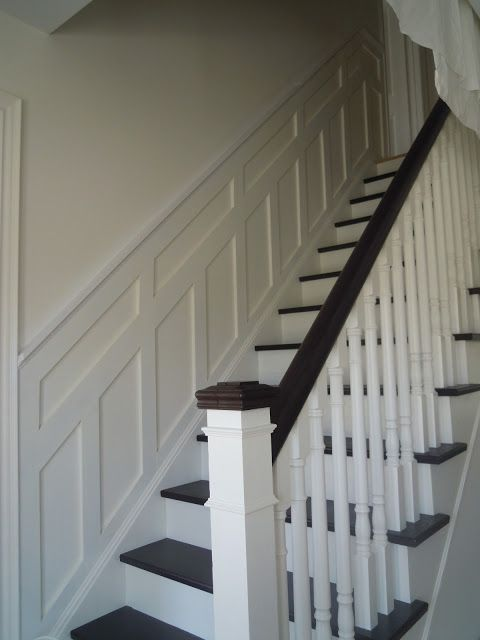 Like The Detail Of The Post Combination With Woodwhite Entry Way Remodel Wainscoting