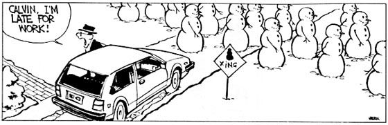 Calvin & Hobbes Snowman Cartoons | Calvin & Hobbes has been a favorite of mine over the years. All of these cartoons have to do with his snowman phase.