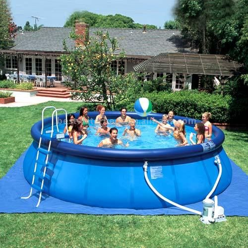 Inflatable round quick up swimming pools it will be here for Quick up pool oval