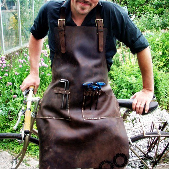 Leather Apron for Bike Mechanic or General Tinkerer