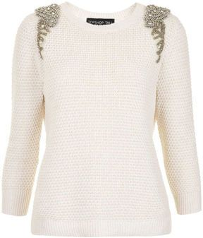 Embellished sweater = fall must.