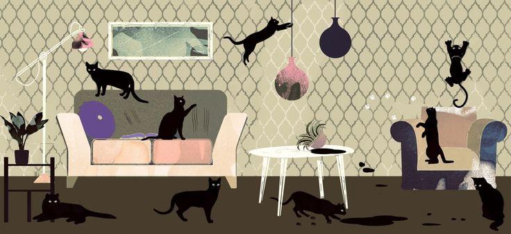 I baffi del gatto (o del cane)! Quale carta da parati scegliere se avete animali domestici?