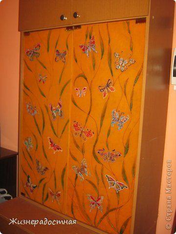 Декор предметов Роспись Дверцы шкафа теперь в бабочках Краска фото 9