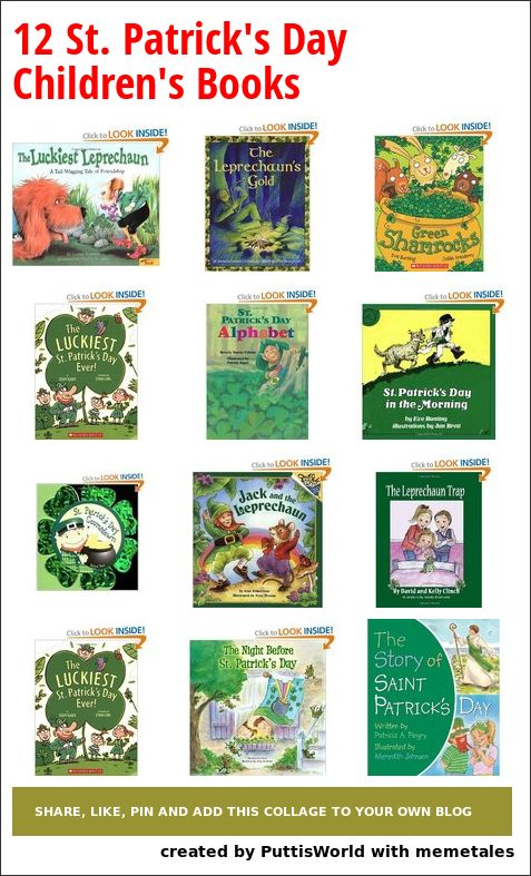 Collage Details - 12 St. Patrick's Day Children's Books
