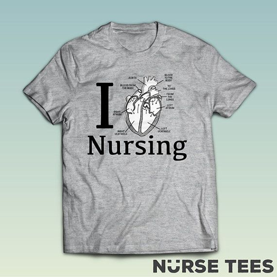 I Love Nursing  Nursing School  TShirt  Nursing Tee  by NurseTees