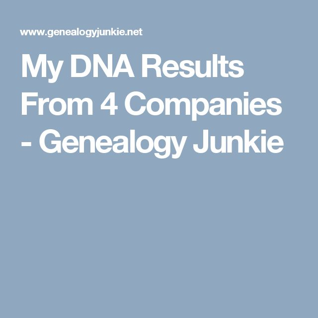 My DNA Results From 4 Companies - Genealogy Junkie