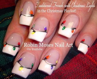"Easy Christmas Lights Nail Art Design Tutorial! ""christmas lights"" ""easy christmas nails"" ""easy xmas ideas"" ""easy christmas ideas"" ""xmas nails"" ""xmas 2015"" 