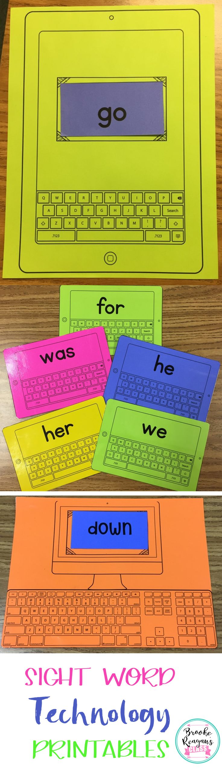 Sight Word Technology Printables
