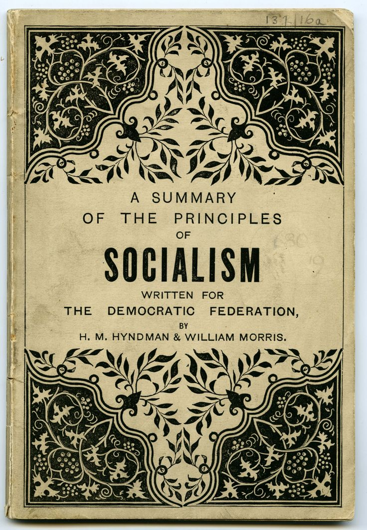 Book Cover Design Principles : A summary of the principles socialism by h m