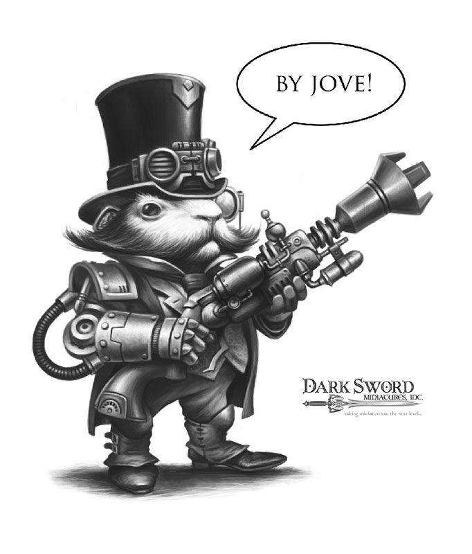 Male Steam Punk Guinea Pig - Critter Kingdoms™ Anthropomorphic Animals - Miniature Lines