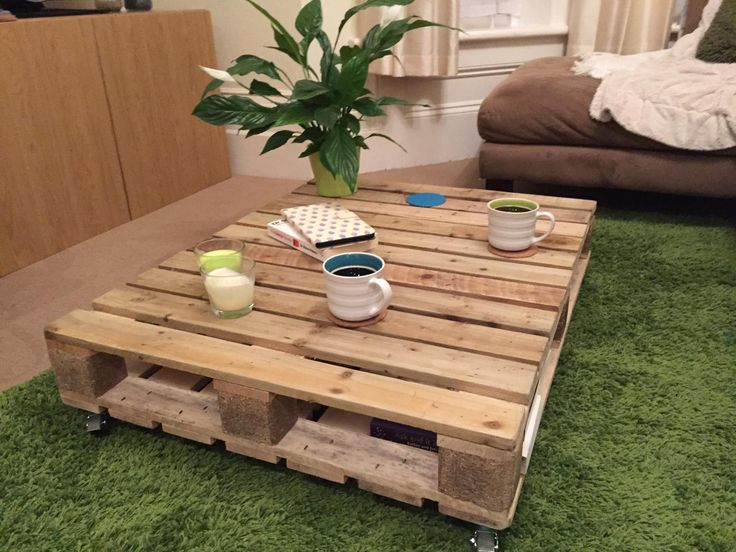 'Grande Preservation' - £80.00 *SOLD* Recycled pallet with a solid base for storage and wheels for easy positioning around your home. #pallets #recycled #furniture #coffeetable #upcycled #bournemouth #lounge #palletwood #coffee #supportlocal #palletfurniture #newventure #homesweethome #buyme