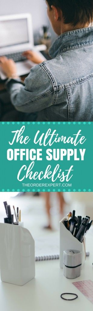 The Ultimate Office Supply Checklist | On the hunt for a list of office supplies? You're in luck! This comprehensive office supplies list has the items you'll need to get your office up and running.