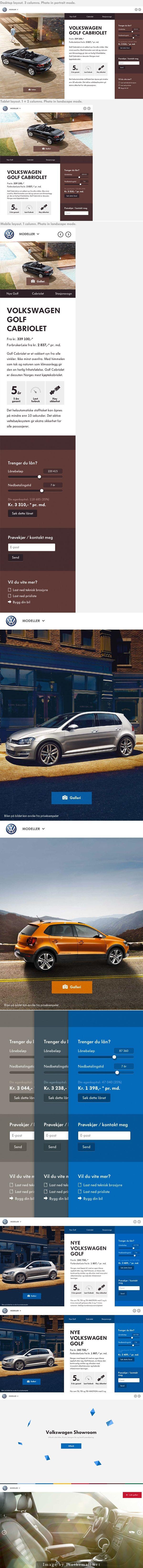 Volkswagen Showroom website by Martin Klausen