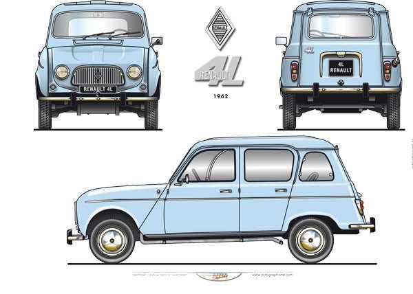 Renault 4L 1962 POSTER
