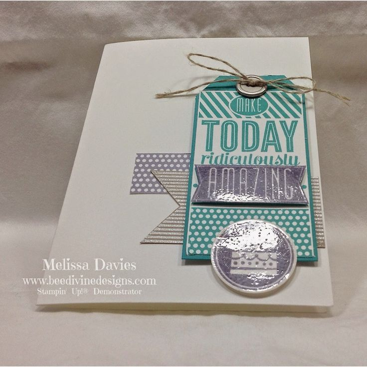 Bee Divine Designs - card from embossing class using new amazing birthday stamp set.