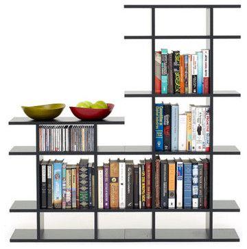 4' Wide 2-Tier Bookshelf - modern - Bookcases - SmartFurniture