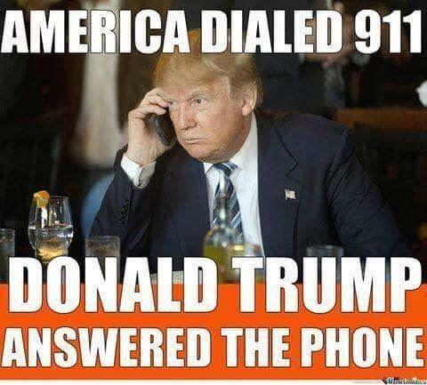 Yes, he did.  Thank God for Mr. Trump!  #TrumpLandslide2016