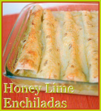 enchiladas!Limes Enchiladas, Turkey Recipe, Chicken Enchiladas, Honey Lim Chicken, Enchiladas Recipe, Corn Tortillas, Favorite Recipe, Families Favorite, Honey Limes Chicken