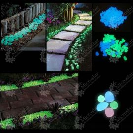 100pcs/lot Garden Ornaments Stone Glow In The Dark Luminous Pebbles
