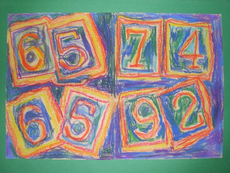 Jasper John Art Lesson also common core math..2 nd grade