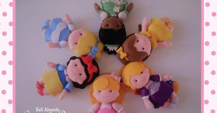 Princesas Baby Disney em feltro com moldes gratuitos... Créditos nas imagens....
