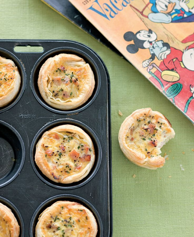 Little egg and bacon breakfast pies recipe by Sabrina Parrini | Cooked