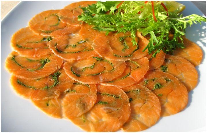 Карпаччо из лосося / Salmon Сarpaccio