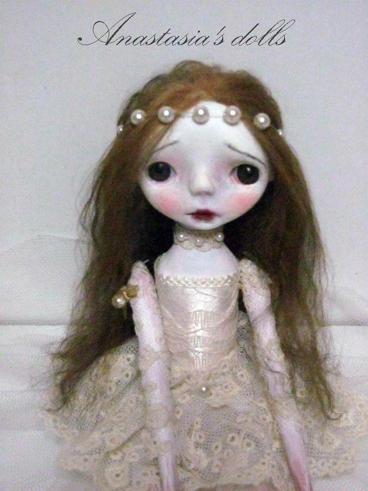 Handmade Collectible Unique -OOAK- Clay poseable Art doll- Mia by Anastasiasdolls on Etsy