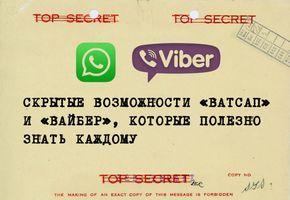 Мессенджеры заменили нам эсэмэски, телефонные разговоры, а некоторым — и живое общение. Мы исследовали вдоль и поперек самые популярные в России мессенджеры — «Вайбер» и «Ватсап» — и нашли в них полезные функции, которыми почти никто не пользуется.