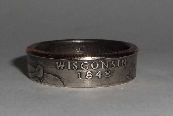WISCONSIN  us quarter  coin ring size  or by COINRINGSandTHINGS, $14.99