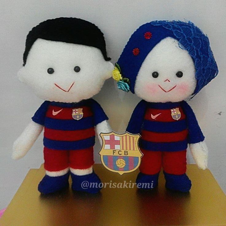 barcelona FC $36  #felt #handmade #football #barca #couple #gift
