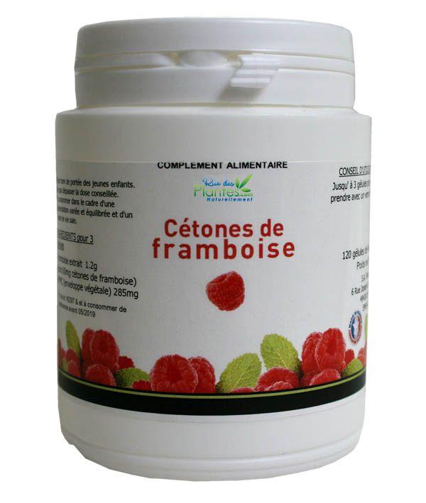 Complément+alimentaire+de+cétones+de+framboise.+Pot+de+120+gélules+de+495mg
