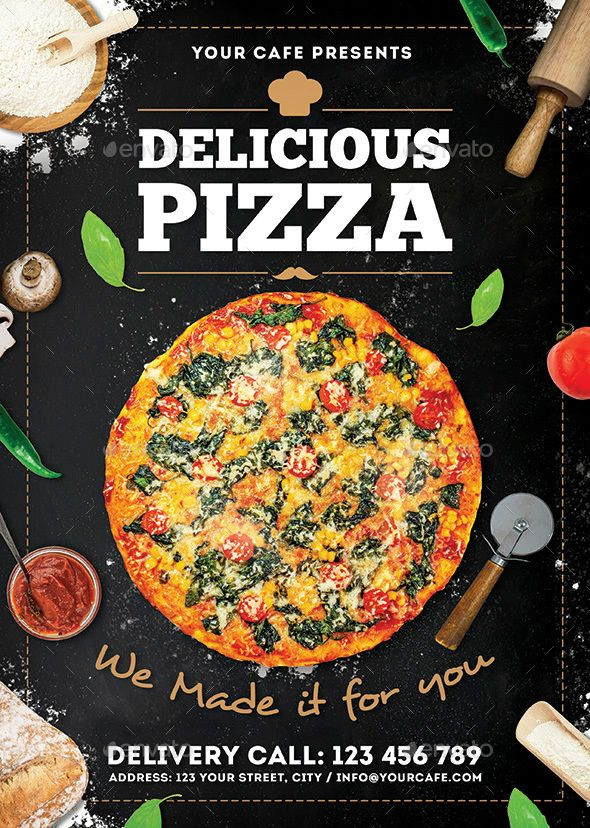 Pizza Flyer | Flyer Design Inspiration | Pizza flyer ...