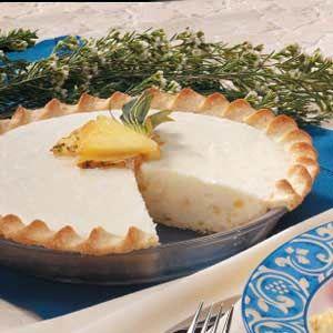 Cream Cheese Pie Recipes   cream cheese pineapple pie recipe photo by taste of home