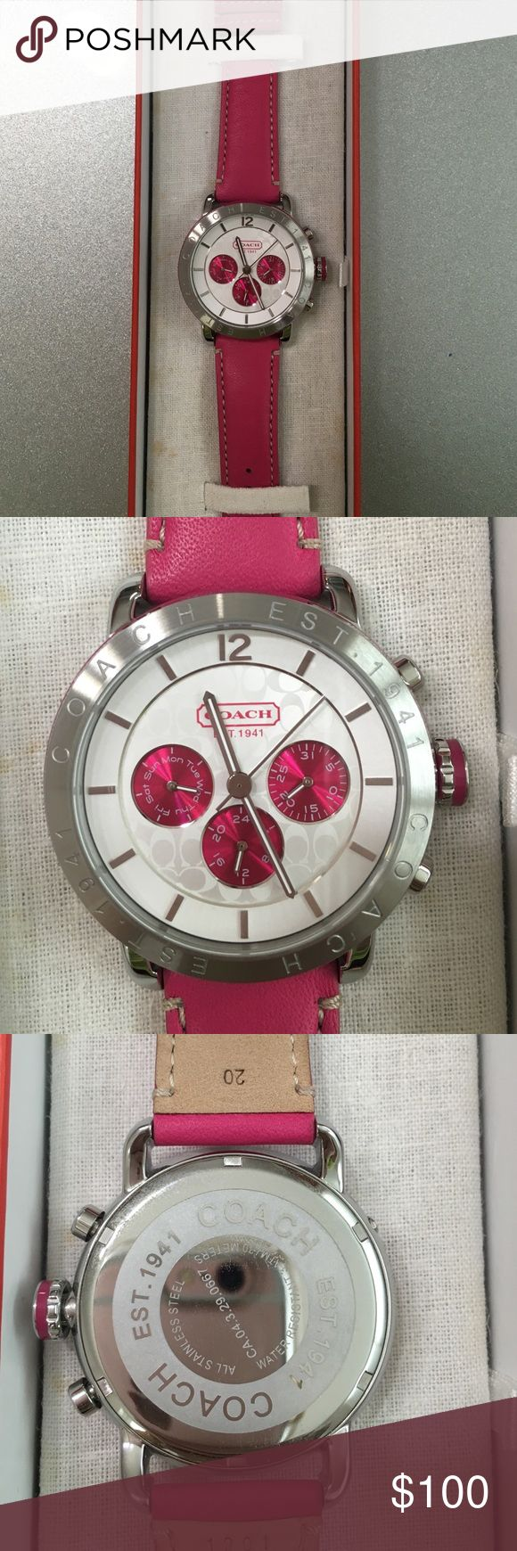 Coach Legacy Leather Watch Beautiful Coach Legacy Leather Strap Watch. Only wear one time. Coach Accessories Watches